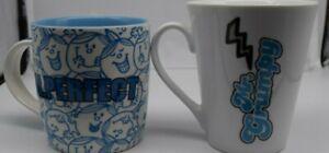 2 x Coffee/Tea or Collectible Mugs - Mr Grumpy & Mr Perfect