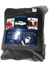 Snuggie Fleece Wearable Blanket Sleeves Plush Microfiber Chocolate Brown 54 X 71
