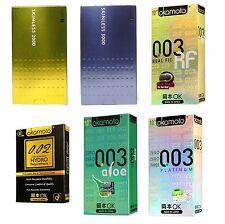 1-6Packs OKAMOTO 003 Platinum Real Fit Aloe Skinless 2000 3000 Hydro 0.02 Condom