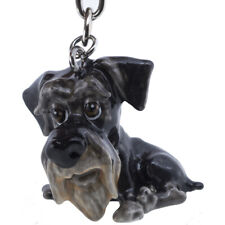 Little Paws Schnauzer Metal Key Ring w/Charms & Trolley Coin