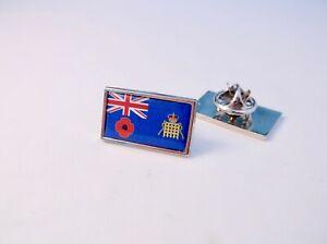 UK HM CUSTOMS & EXCISE ENSIGN REMEMBRANCE LAPEL PIN BADGE TIE CLIP