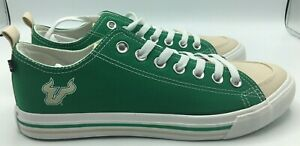 USF Bulls Shoes Men's Size 9 University of South Florida Canvas Shoes Green