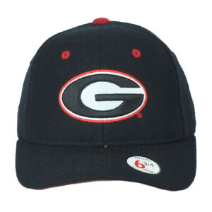 NCAA Zephyr Georgia Bulldogs Black Adult Curved Bill Fitted Size 6 3/4 Hat Cap