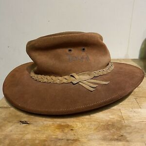 Toggi Suede Leather Country Hat Medium Squashable  Fedora