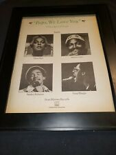 Marvin Gaye, Diana Ross, Stevie Wonder Rare Original Promo Poster Ad Framed!