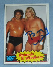 Barry Windham Signed 1985 WWF Topps Rookie Card #18 Wrestling Autograph WWE RC