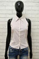 Camicia ZARA Donna Taglia Size M Maglia Blusa Shirt Woman Cotone Bianco a Quadri