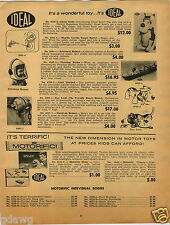 1965 PAPER AD Ideal Toy Great Scott Dog Astronaut Helmet Remco US Army Tank