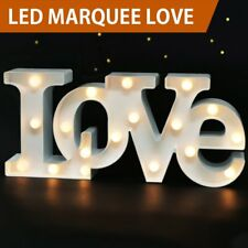 "Bright Zeal 7"" Tall Large LED Love Marquee Sign Letters (White, 6hr Timer) -"
