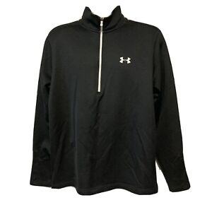UA Under Armour Men's 1/2 Zip Pullover Black Large Loose Coldgear