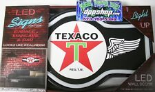 Texaco motor oil star bar mancave led lighted neon sign shop garage home decor