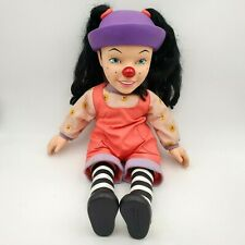 """Loonette Talking Girl Doll Big Comfy Couch Stuff Talking Playmate Toy 18"""" 1996"""