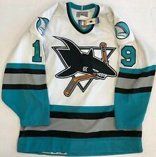 New Authentic Pro CCM San Jose Joe Thornton Hockey Jersey sz 46 fight strap Mens