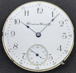 Hampden 109 D In Flag Pocket Watch Movement 16s 15j Hunter Ticks Rare F4257