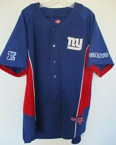 New York Giants NFL NFC East Full Button Up Jersey Shirt VF Imagewear sz XL NY