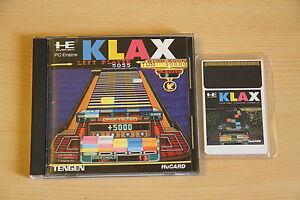 KLAX Jeu NEC PC Engine Hucard import JAP cib