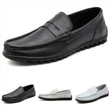 Mens Leisure Leather Shoes Driving Moccasins Pumps Slip on Loafers Soft Comfy D