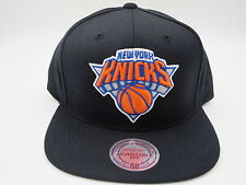 New York Knicks Black Wool Mitchell & Ness NBA Retro Throwback Snapback Hat Cap