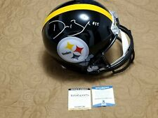 Devin Bush Signed Steelers Full Size Replica Helmet Beckett Authenticated