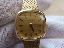 Vintage Movado 14k Solid Gold Watch  Bracelet w safety.  Extra Small.  26 grams