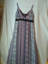 MELA❤️LONDON FULL LENGHT DRESS UK SIZE 12 FOR MANY OCCASIONS MULTI-COLOURED