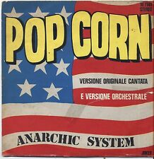 "ANARCHIC SYSTEM - Pop corn - VINYL 7"" 45 LP ITALY 1972 VG+/VG-- CONDITION"