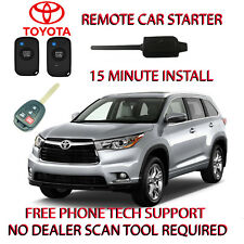 2014 2015 2016 TOYOTA HIGHLANDER REMOTE START- NO WIRE SPLICING- REGULAR KEY ONL