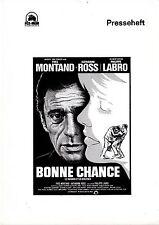 Das Todeslabyrinth Presseheft press book Le Hasard Bonne Chance Yves Montand
