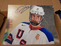 TREVOR ZEGRAS signed (ANAHEIM DUCKS) 2019 NHL DRAFT autographed Photo 8x10  #7