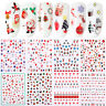Christmas 3D Nail Stickers Snowflake Transfer Decals Nail Art Decoration Tips