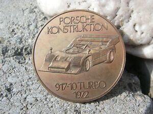 1974 PORSCHE CHRISTOPHORUS Calendar Coin Münze Medaille PORSCHE 917-10 TURBO