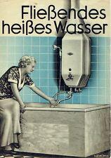 Eschebach Radeberg Prospekt Heißwasser-Automaten 1935