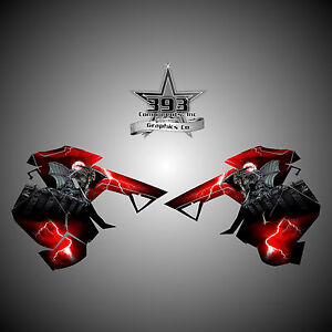 2015-2019 POLARIS AXYS Side Panel Decal Sticker Wrap Graphics Guardian Red