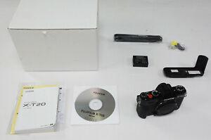 Fujifilm X-T20 Black - body only + MHG-XT10 metal hand grip (REF431)