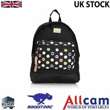 Rocket Dog Olive Casual Rucksack/Backpack for teenage girls in Black- Love Spots