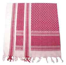 KEFIAH Shemagh Scarf RED WHITE fringed ROSSA BLU SCIARPA SOFTAIR airsoft