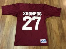 MENS MEDIUM - Vtg Oklahoma Sooners Football #27 Champion Printed Jersey USA