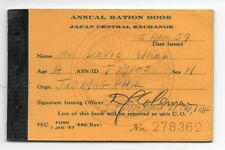 1957 Japan Central Exchange Annual Ration Book with Tickets