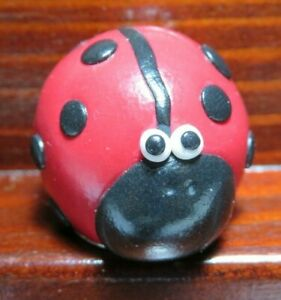 BRYN METAL & POLYMER CLAY RESIN THIMBLE - LABYBIRD