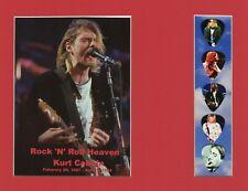 Kurt Cobain Rock 'N' Roll Heaven Picture Guitar Picks Nirvana In Bloom Breed