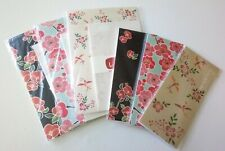 6pcs Kurochiku traditional Japanese flower design letter set and memo pad
