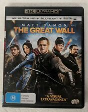 THE GREAT WALL 4K ULTRA HD + BLU-RAY oz seller Matt Damon 4K UHD HDR DVD