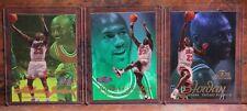 Michael Jordan FLAIR 3 card lot. 1996 - 1997 Row 2 Sec 1. And 2 from 97'-98'