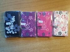 Book, wallet style PU leather flip phone case cover for iphone 3g, 3gs - flowers