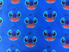 OFFCUT DISNEY LILO AND STITCH ALIEN WOODY HAWAII  POLYCOTTON FABRIC CHARACTER