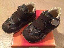 *TOP & OVP* Primigi Schuhe Halbschuhe Sneaker Leder Braun Klett Gr. 22 hoher NP