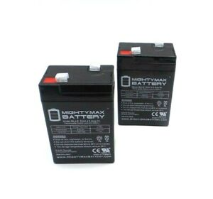 Mighty Max ML4-6 6V 4.5AH Rechargeable Battery Replacement MK ES4-6SA 2-Pack