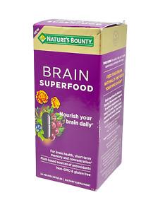 Nature's Bounty Brain Super Food Dietary Supplement (24 Vegan Capsules) 07/22