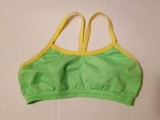 Champion C9 Womens Neon Yellow & Green Active-wear Sports Bra Size Small