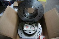 2x Brembo Xtra Discos de Freno Perforado Audi A3- Seat-Vw Golf / Passat (282mm)